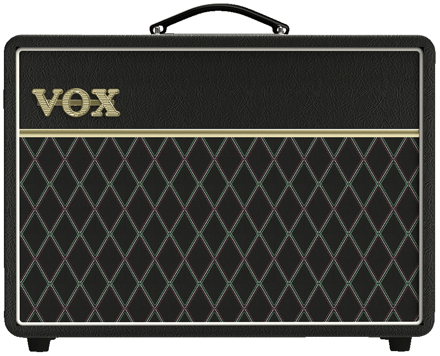front view of black VOX amplifier