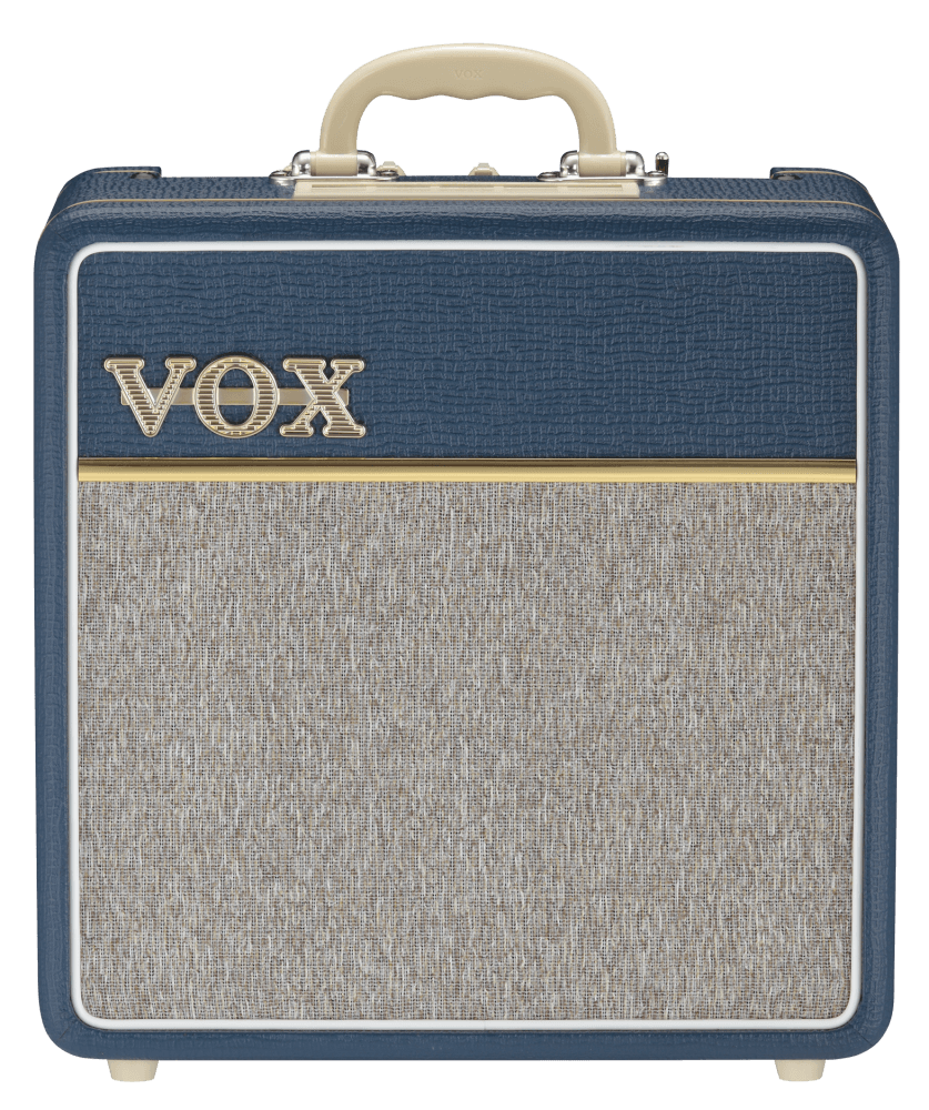 front view of blue and grey VOX AC4C1