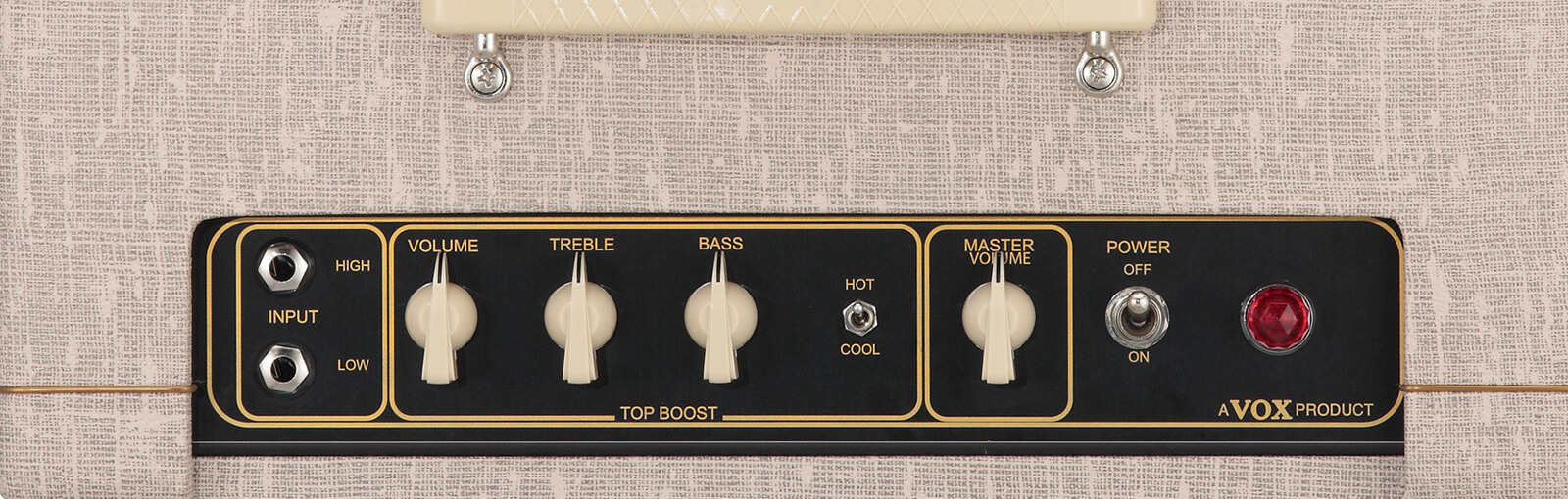 closeup of controls on VOX AC4HW1
