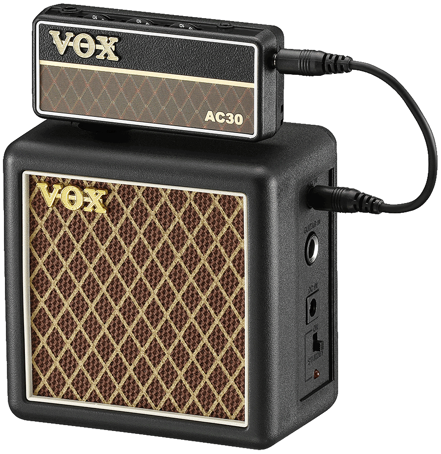 front view of brown and black VOX Amplug cabinet