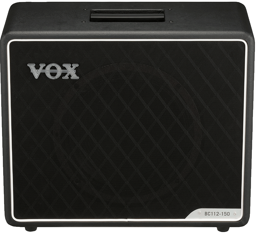 front view of black VOX cabinet