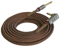 closeup of brown VOX cable