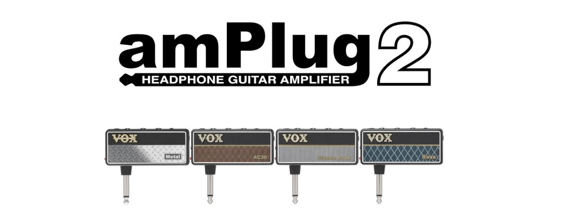 Introducing the new VOX amPlug G2 headphone guitar amps!