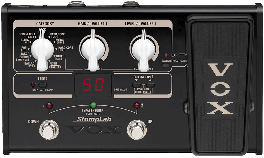 VOX Stomplab guitar multi-effect