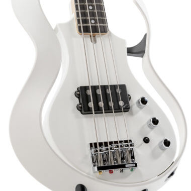 body of white VOX electric guitar