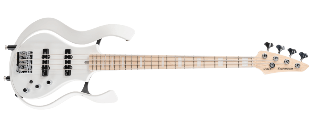 white VOX electric guitar