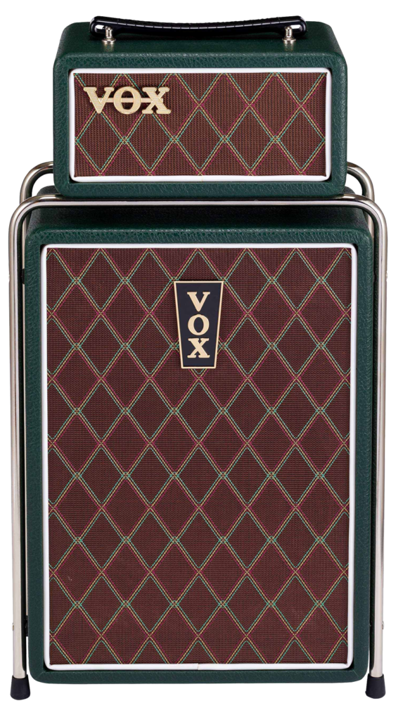 green and brown VOX amp
