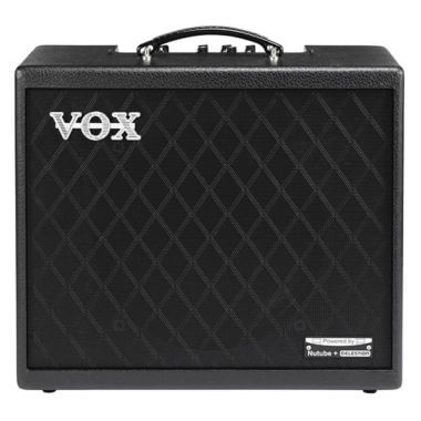front view of black VOX amp