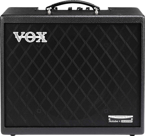 front of the Vox Cambridge50 guitar modeling amp
