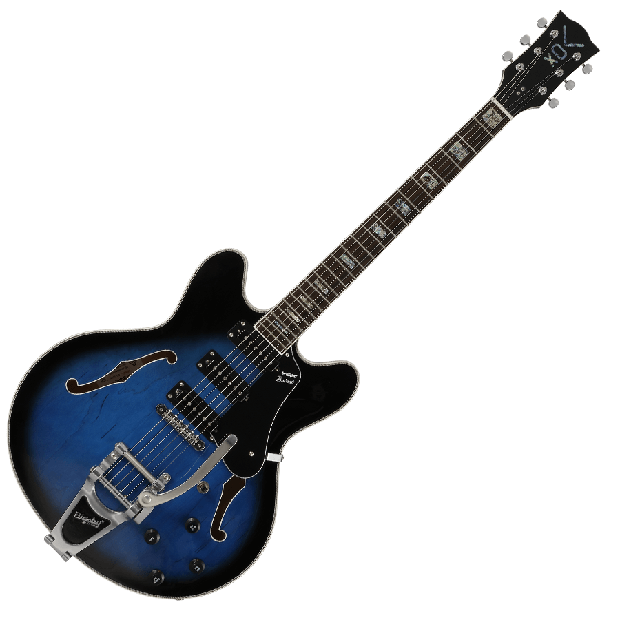 blue VOX electric guitar