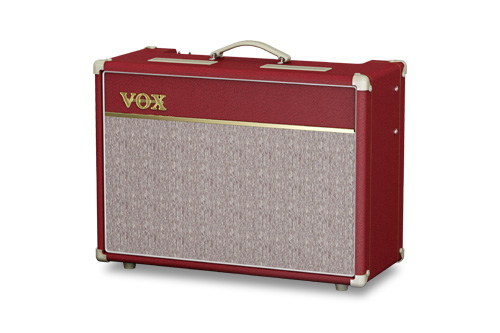 red VOX amplifier
