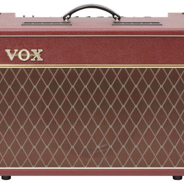red and brown VOX amplifier