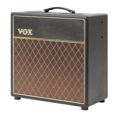 brown and black VOX amplifier