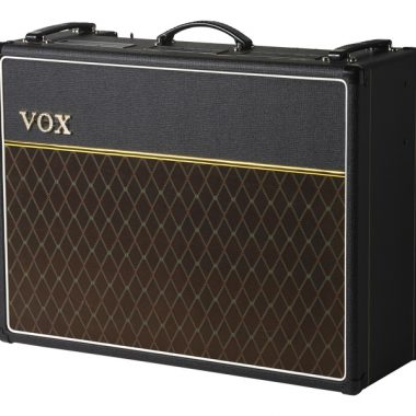 black and brown VOX amplifier