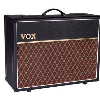 angled front view of VOX amplifier
