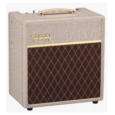 cream and brown VOX amplifier