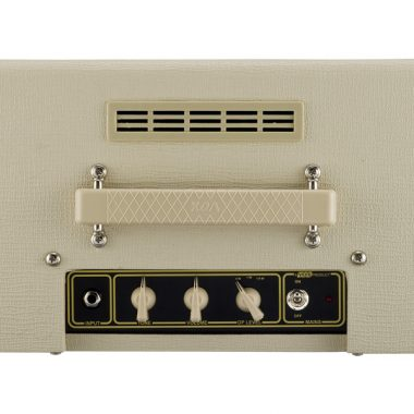 top view of cream VOX amplifier