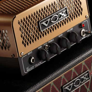 closeup of cabinet on VOX amplifier
