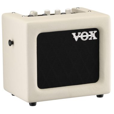 white VOX mini amplifier
