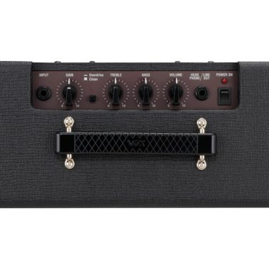 top view of black VOX amplifier