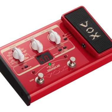 top view of red VOX StompLab