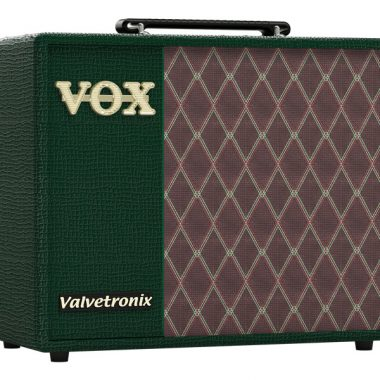 green and grey VOX amplifier